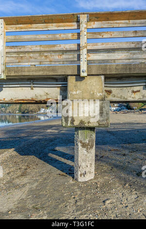 A view of a section of a pier at Dash Point, Washington. - Stock Photo