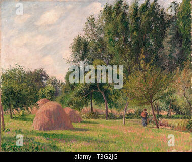 Camille Pissarro (1830 1903) haystacks morning eragny  1899 - Stock Photo