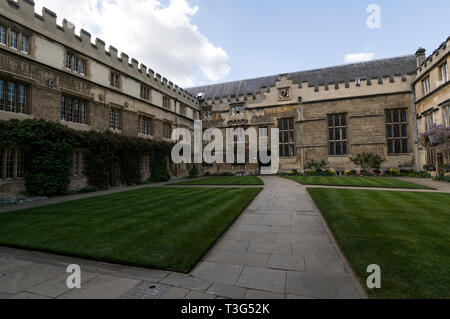 Jesus College in Turf Street, Oxford, Britain. - Stock Photo