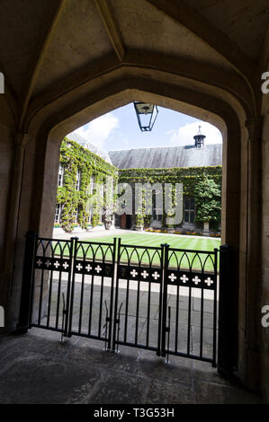 The quad at Lincoln College in Turf Street, Oxford, Britain - Stock Photo