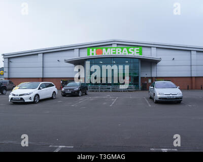 Homebase DIY store in Market Drayton Shropshire earmarked for closure later this year making staff redundant - Stock Photo