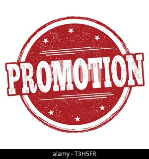 Promotion sign or stamp on white background, vector illustration - Stock Photo