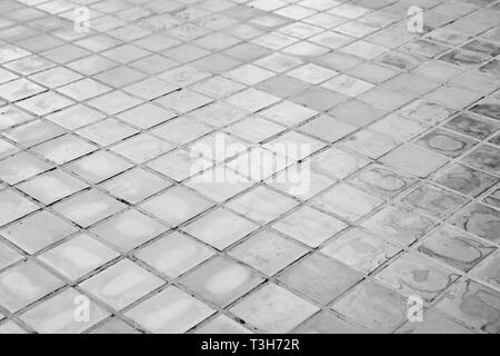 black and white stone floor background texture - Stock Photo