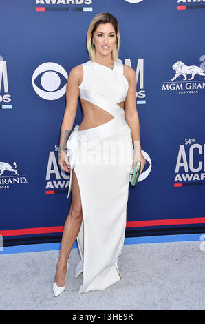 LAS VEGAS, CA - APRIL 07: Cassadee Pope attends the 54th Academy Of Country Music Awards at MGM Grand Hotel & Casino on April 07, 2019 in Las Vegas, Nevada. - Stock Photo