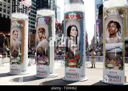 New York, USA. 10 Jun, 2015.  Atmosphere at 'Orange Is The New Black' Times Square Takeover at Times Square on June 10, 2015 in New York, NY. Credit: Steve Mack/S.D. Mack Pictures/Alamy - Stock Photo