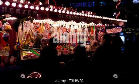 Christmas market (Weihnachtsmarkt), Breitscheidplatz, Berlin, Germany - Stock Photo