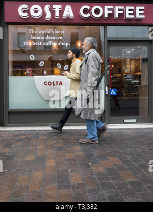 Costa Coffee outlet in Southwark, London, UK - Stock Photo
