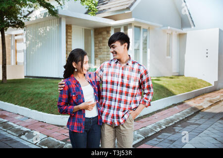 happy young couple buy new house - Stock Photo
