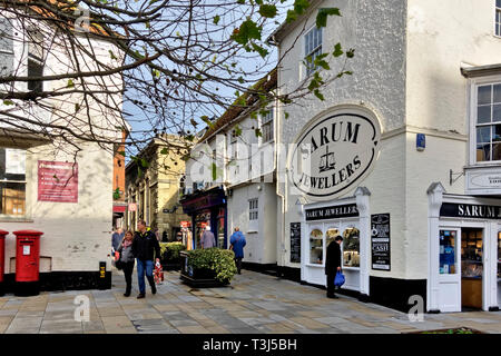 Sarum Jewellers shop in New Canal, Salisbury, Wiltshire, England UK - Stock Photo