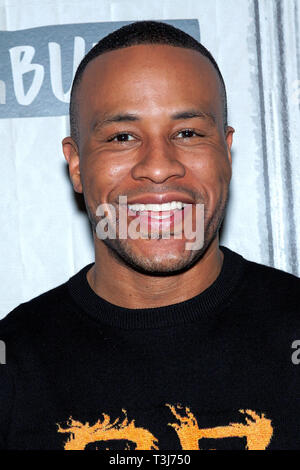 New York, USA. 09 Apr, 2019.  DeVon Franklin at The BUILD Series discussing ÒBreakthroughÓ at BUILD Studio on April 09, 2019 in New York, NY. Credit: Steve Mack/S.D. Mack Pictures/Alamy - Stock Photo