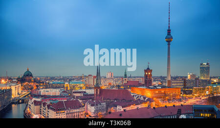 Berlin aerial view, Germany - Stock Photo