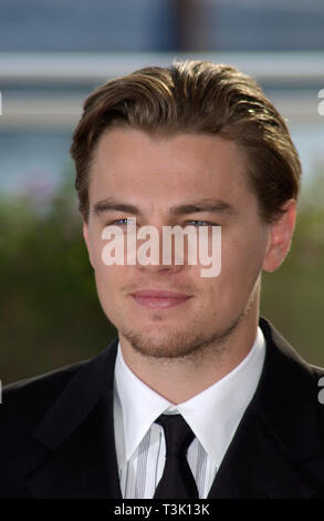 CANNES, FRANCE. May 20, 2002: Actor LEONARDO DiCAPRIO at the Cannes Film Festival to promote his new movie Gangs of New York. © Paul Smith / Featureflash - Stock Photo