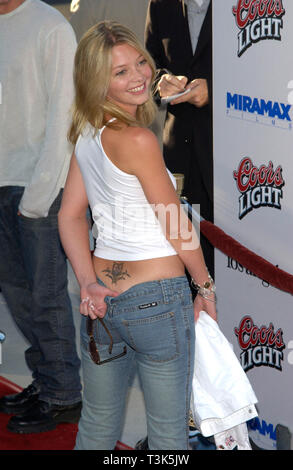 LOS ANGELES, CA. July 23, 2002: Actress AMANDA DETMER at the Los Angeles premiere of Full Frontal. © Paul Smith / Featureflash - Stock Photo