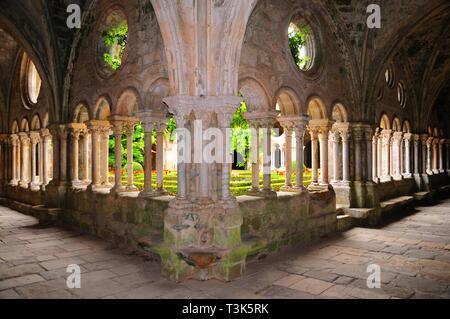 Abbey of Sainte-Marie de Fontfroide, Aude, France, Europe - Stock Photo