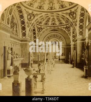 'Hall of the Romans, Glyptothek, Munich, Germany', 1898. Creator: Underwood & Underwood. - Stock Photo