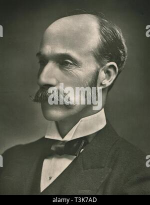 """'The Most Noble The Marquis of Lansdowne', c1907. Portrait of British politician and colonial administrator Henry Petty-Fitzmaurice, 5th Marquess of Lansdowne (1845-1927), who held the positions of Governor-Gen of Canada, Viceroy of India, Secretary of State for War and Secretary of State for Foreign Affairs. From """"Our Conservative and Unionist Statesmen"""", Volume II. [Newman, Graham & Co, London, c1907] - Stock Photo"""