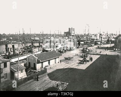 La Boca, Buenos Aires, Argentina, 1895.  Creator: Unknown. - Stock Photo