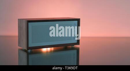 Studio shot of a Bluetooth speaker - Stock Photo