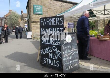 Wirksworth Farmer's Market, Debyshire - Stock Photo