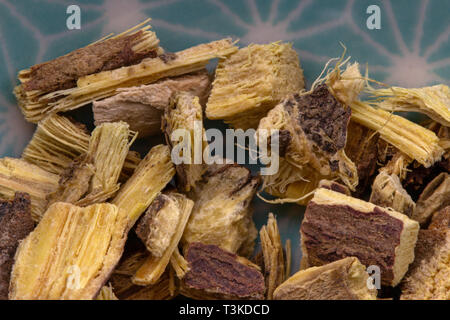 licorice root detail, healthy herbs naturopathy - Stock Photo