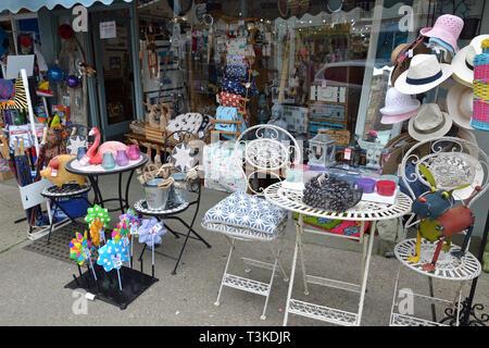 Gifts and garden goods shop High Street, Aldeburgh, Suffolk, UK - Stock Photo