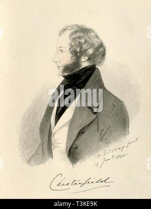 'The Earl of Chesterfield', 1840. Creator: Richard James Lane. - Stock Photo
