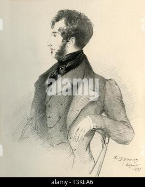 'Edward Lytton Bulwer', 1837. Creator: Richard James Lane. - Stock Photo