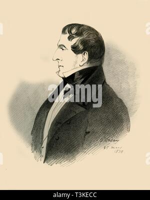 Viscount Allen, 1838.  Creator: Richard James Lane. - Stock Photo