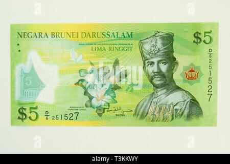 Currency of the Sultanate of Brunei (ringgit) - Stock Photo
