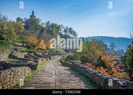 historical Tsarevets fortress in Veliko Tarnovo, Bulgaria