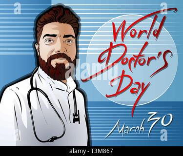 Illustration dedicated to the World Doctor Day - Stock Photo