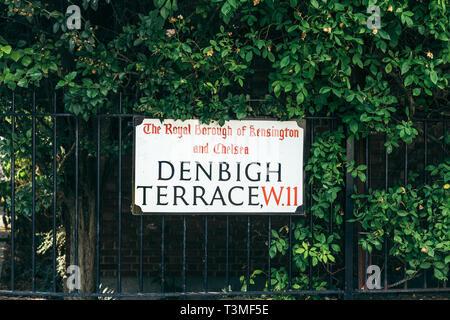 Denbigh Terrace, Notting Hill W11, London, England, UK ...