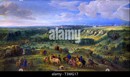 The Siege of Luxembourg  1685–1686 Belgian, Belgium, Flemish, Adam Frans van der MEULEN Brussels, 1632 – Paris, 1690 ( The city of Luxembourg, reputed impregnable, was conquered in 1684 by King Louis XIV. ) France, French. - Stock Photo