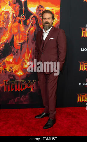 New York, USA. 09th Apr, 2019. David Harbour attends the Hellboy New York Screening at AMC Lincoln Square Theater Credit: Lev Radin/Pacific Press/Alamy Live News - Stock Photo