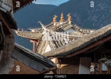 Sideng market, Shaxi, Yunnan, China - Stock Photo