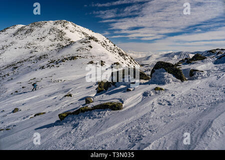 Views of Retezat National Park, from the summit of Retezat. - Stock Photo