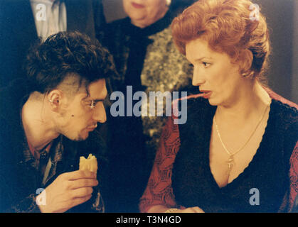 Italian actors Iva Zanicchi and Max Mazzotta in the movie L'Ultimo Capodanno by Marco Risi, 1998 - Stock Photo