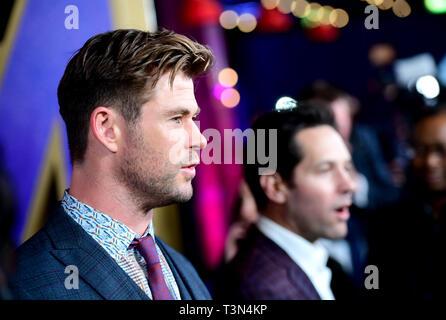 Chris Hemsworth attending the Avengers: Endgame fan event held at Picturehouse Central, London. - Stock Photo