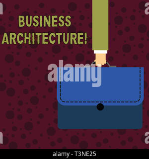 Conceptual hand writing showing Business Architecture. Concept meaning Graphical representation of a business model Businessman Carrying Colorful Brie - Stock Photo