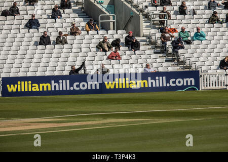 London, UK. 11th Apr, 2019. as Surrey take on Essex on day one of the Specsavers County Championship match at the Kia Oval. Credit: David Rowe/Alamy Live News - Stock Photo