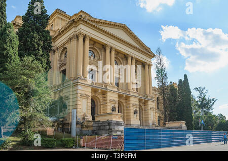 Sao Paulo - SP, Brazil - February 19, 2019: Historical museum, Museu Paulista also known as Museu do Ipiranga at Parque da Independencia park. Buildin - Stock Photo