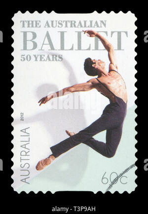 AUSTRALIA - CIRCA 2012: A used postage stamp from Australia, celebrating the 50th Anniversary of the Australian Ballet, circa 2012. - Stock Photo