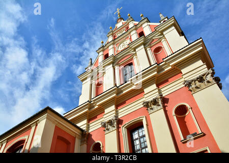 Jesuit Church or Shrine of Our lady of Graces Church in Warsaw, Poland - Stock Photo