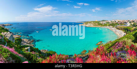 Rena Bianca beach, north Sardinia island, Italy - Stock Photo