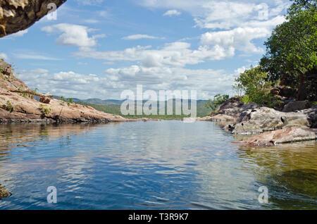 Rock  Pool, Gunlom Falls, Kakadu - Stock Photo