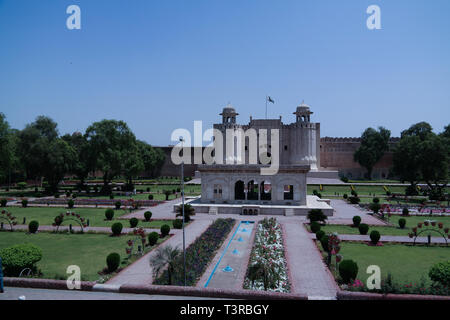 Alamgiri Gate of Lahore fort, Punjab - 04 may 2015 Pakistan - Stock Photo