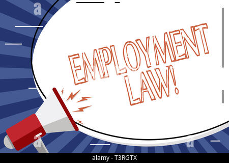 Handwriting text Employment Law. Conceptual photo encompassing all areas of employer employee relationship Blank White Huge Oval Shape Sticker and Meg - Stock Photo