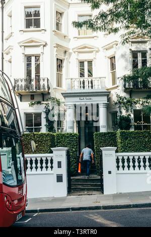 London/UK - July 21 2018: Paul Smith Westbourne House on Kensington Park Road in Notting Hill, London, UK - Stock Photo