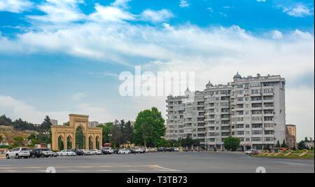 Baku, Azerbaijan March 31, 2019 Streets of modern Baku - Stock Photo