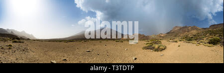 Panoramic View of Volcano Mount Teide in National Park, , Tenerife, Spain, Europe - Stock Photo